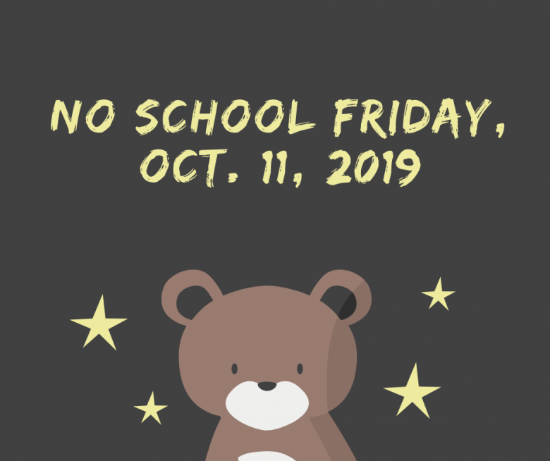 No school Friday, October 11
